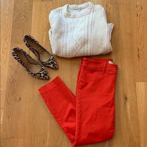 NWOT Anthropologie RED chinos